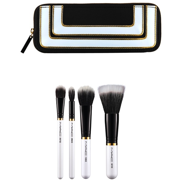 MAC MAC Stroke of Midnight Eye Lip Brush Bags Brush Kit Mineralize