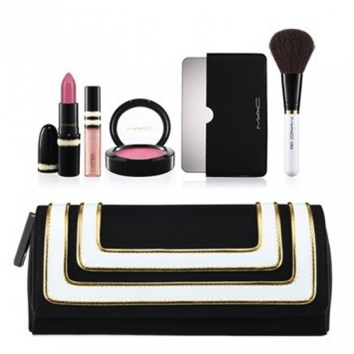 Stroke of midnight pink lip cheek bag