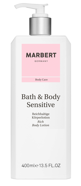 453045 Bath Body Sensitive Bodylotion 400ml Isolated